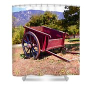 The Old Apple Cart Shower Curtain by Glenn McCarthy Art and Photography