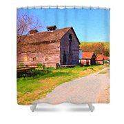 The Old Barn 5D22271 Shower Curtain by Wingsdomain Art and Photography