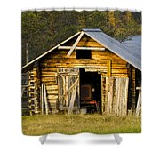 The Old Barn Shower Curtain by Heiko Koehrer-Wagner