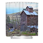 The Old Grain Storage Shower Curtain by Steve McKinzie