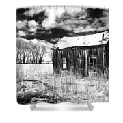The Old Homestead Shower Curtain by Cat Connor