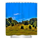 The Old Maple Ridge Ski Area - Old Forge Ny Shower Curtain by David Patterson