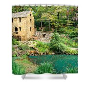 The Old Mill - North Little Rock - Pugh's Mill 1832 Shower Curtain by Gregory Ballos