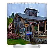 The Old Mill Restaurant - Old Forge New York Shower Curtain by David Patterson
