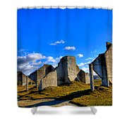 The Old Quarry At #18 - Chambers Bay Golf Course Shower Curtain by David Patterson