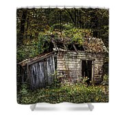 The Old Shack In The Woods - Autumn At Long Pond Ironworks State Park Shower Curtain by Gary Heller