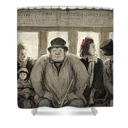 The Omnibus Shower Curtain by Honore Daumier