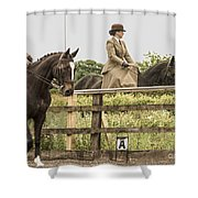 The Other Side Of The Saddle Shower Curtain by Linsey Williams