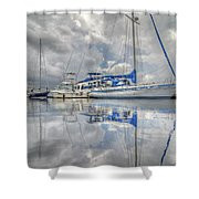 The Outer Pier Shower Curtain by John Adams