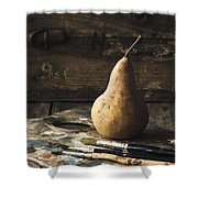 The Painter's Pear Shower Curtain by Amy Weiss