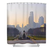 The Parkway In The Morning Shower Curtain by Bill Cannon