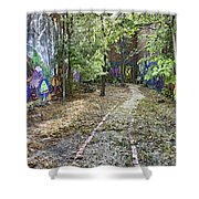 The Path Of Graffiti Shower Curtain by Jason Politte