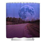 The Peace Moon Shower Curtain by Betsy C  Knapp