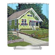 The Pickles House Shower Curtain by Gary Giacomelli