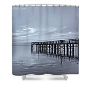 The Pier Shower Curtain by Kim Hojnacki