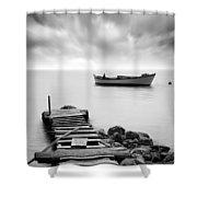 The Pier Shower Curtain by Taylan Soyturk