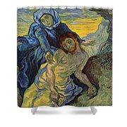The Pieta After Delacroix 1889 Shower Curtain by Vincent Van Gogh