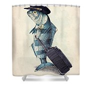 The Pilot Shower Curtain by Eric Fan