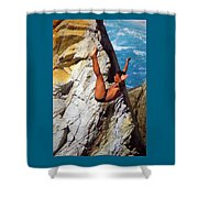 The Plunge Shower Curtain by Karen Wiles