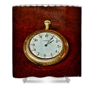 The Pocket Watch Shower Curtain by Paul Ward