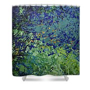 The Pond Shower Curtain by Linda Bailey