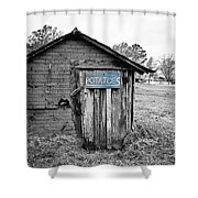 The Potato Shed Shower Curtain by Scott Pellegrin