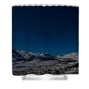 the presence of absolute silence Shower Curtain by Priska Wettstein