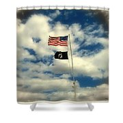 The Price Of Freedom Shower Curtain by Glenn McCarthy Art and Photography