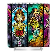 The Princesses Shower Curtain by Mandie Manzano