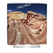 The Purple Wave 2 Shower Curtain by Bob Christopher