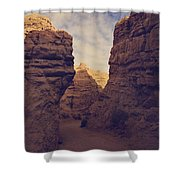 The Pyramid Shower Curtain by Laurie Search