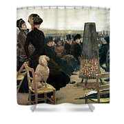 The Races At Auteuil Shower Curtain by Giuseppe Nittis