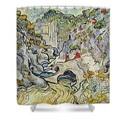 The Ravine Of The Peyroulets Shower Curtain by Vincent van Gogh