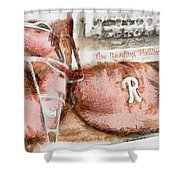 The Reading Phillies Shower Curtain by Trish Tritz