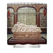 The Recumbent Robert E. Lee Shower Curtain by Mountain Dreams