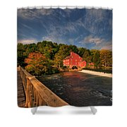 The Red Mill Shower Curtain by Paul Ward