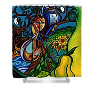 The Rite Of Spring Shower Curtain by Genevieve Esson
