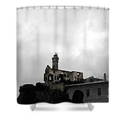 The Rock  Alcatraz Island Shower Curtain by Cheryl Young