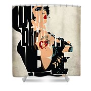 The Rocky Horror Picture Show - Dr. Frank-N-Furter Shower Curtain by Ayse Deniz