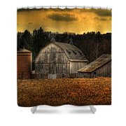 The Rose Farm Shower Curtain by Thomas Young