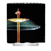 The Rotating Skirt Shower Curtain by Hannes Cmarits