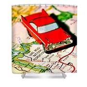 The Scenic Route Shower Curtain by Benjamin Yeager