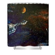 The Search For Earth Shower Curtain by Murphy Elliott
