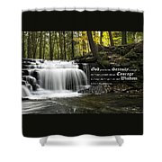 The Serenity Prayer Shower Curtain by Christina Rollo