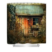The Shed Shower Curtain by Jessica Jenney