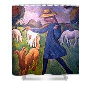 The Shepherdess Shower Curtain by Roger de La Fresnaye