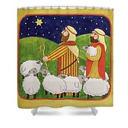 The Shepherds Shower Curtain by Linda Benton