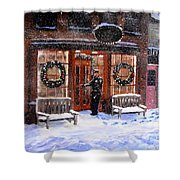 The Shiver And Shake Watch On Christmas Eve Shower Curtain by Jack Skinner