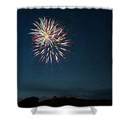 West Virginia Day Fireworks Show Begins Shower Curtain by Howard Tenke