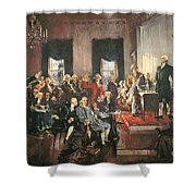 The Signing of the Constitution of the United States in 1787 Shower Curtain by Howard Chandler Christy